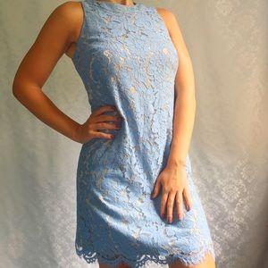 Vince Camuto NWT Blue Lace Sleeveless Short Dress